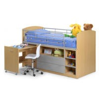 Julian Bowen Leo Kids Mid Sleeper Bed - without mattress