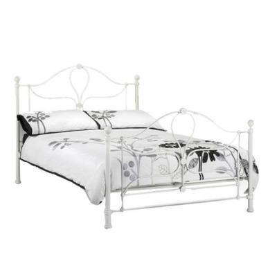 Julian Bowen Paris White Metal Bed Frame - kingsize