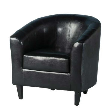 Seconique Tempo Tub Chair in Black Faux Leather