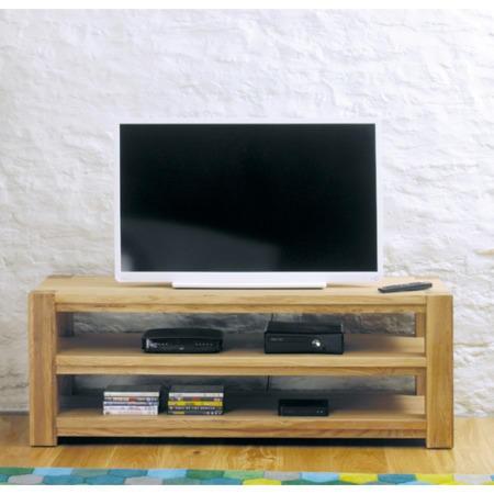 Baumhaus Aston Solid Oak Open Widescreen Tv Stand