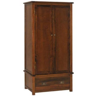 Core products boston 2 door 1 drawer wardrobe for Furniture 123 wardrobes
