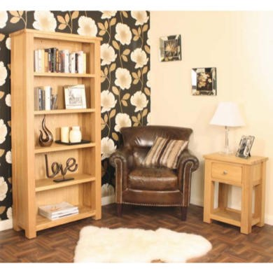 Baumhaus Aston Solid Oak 2 Piece Living Room Furniture Set