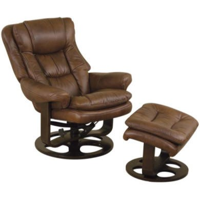 Relaxateeze Elis Swivel Recliner with Footstool in Tan