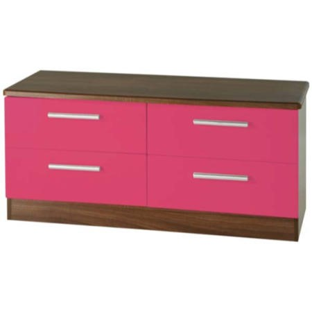 Welcome Furniture Hatherley High Gloss 4 Drawer Wide Chest
