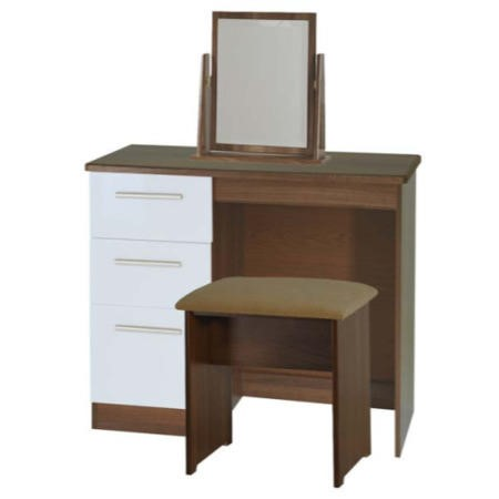 c746a448e168 Welcome Furniture Hatherley High Gloss Small Dressing Table in Walnut and  White FOL068614