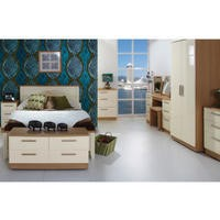 Knightsbridge High Gloss Dressing Table in Oak and Cream