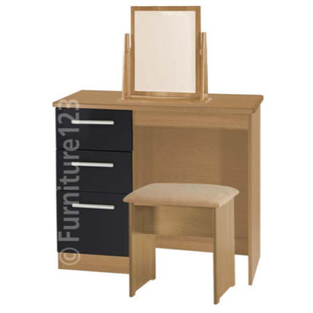 9c61f6009a50 Welcome Furniture Hatherley High Gloss Small Dressing Table in Oak ...