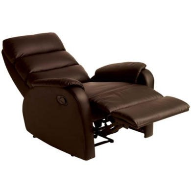 Relaxateeze Benjamin Leather Faced Recliner Armchair in Brown