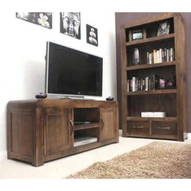 Baumhaus Shiro Solid Walnut 2 Piece Living Room Furniture Set