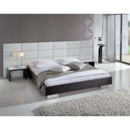 Hasena Cirilla Solid Oak Bed Frame In Black With White
