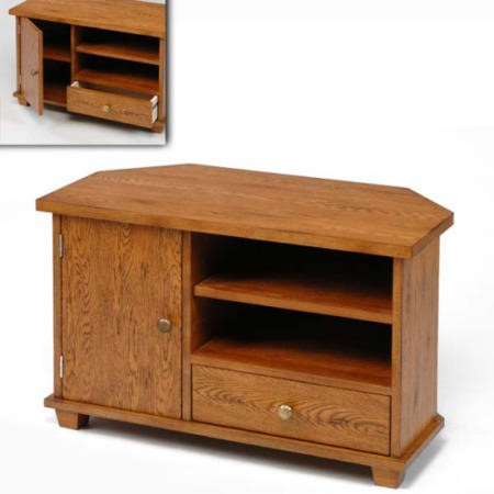 Origin Red Greenwich Oak Corner TV Cabinet
