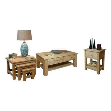 Baumhaus Mobel Solid Oak 3 Piece Occasional Furniture Set