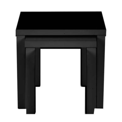 Zone Dazzle High Gloss Black Nest of Tables