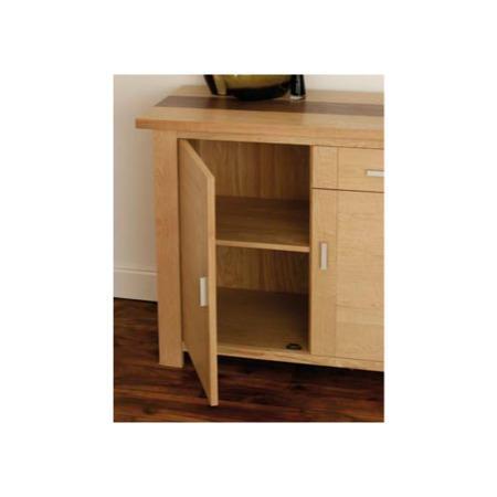 Zone Jenson Oak 3 Door 1 Drawer Sideboard Furniture123