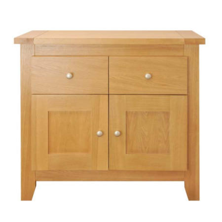 Zone Mallory Oak 2 Door 2 Drawer Sideboard Furniture123