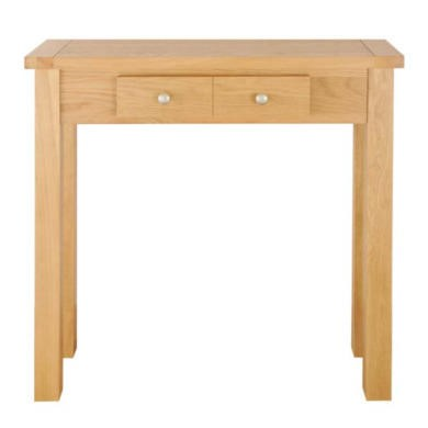 Zone Mallory Oak 2 Drawer Console Table