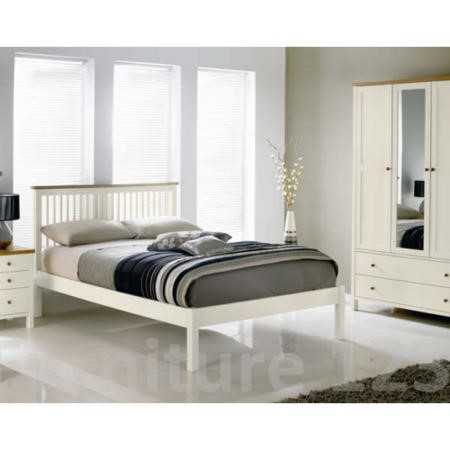 Bentley Designs Atlantis Two Tone Low Footend Single Bed Frame ...