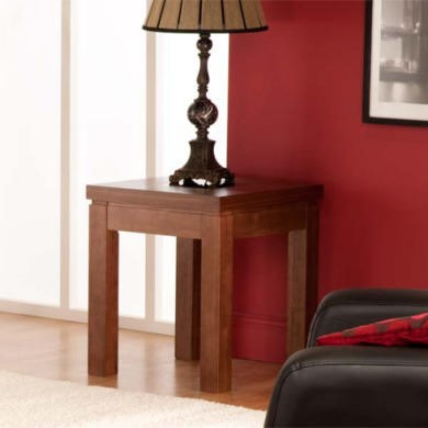 World Furniture Nevada Square Lamp Table in Walnut