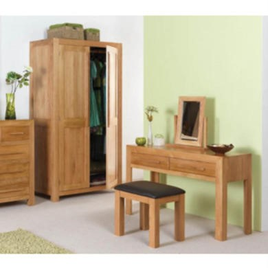 Heritage Furniture UK Caley Solid Oak 2 Drawer Dressing Table - 2 drawer dressing table