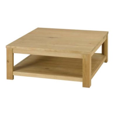 Alpes Developpement Come Solid Oak Square Coffee Table Furniture123