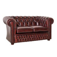 Icon Designs St Ives Windsor Leather 2 Seater Sofa in Red