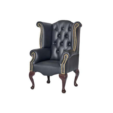 Icon Designs St Ives Kids Scroll Wing Leather Armchair in ...