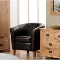 World Furniture Oxford Tub Chair in Black