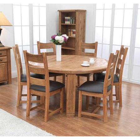 Furniture Link Danube Solid Oak Round Dining Table