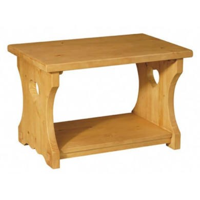 Alpes Developpement Pays Solid Pine Small Heart Coffee Table Furniture123
