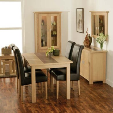 Zone Jenson Oak 9 Piece Dining Room Furniture Set