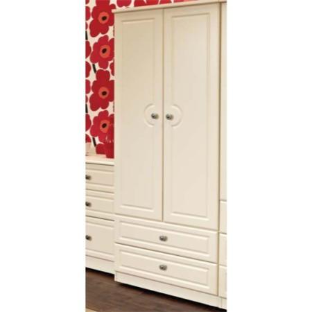 Welcome Furniture Amelie Cream 2 Door 2 Drawer Wardrobe