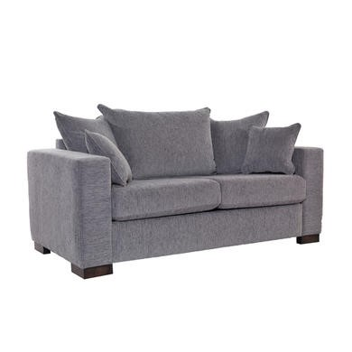 Icon Designs St Ives Madrid Scatter Back 2 Seater Sofa Bed in Grey