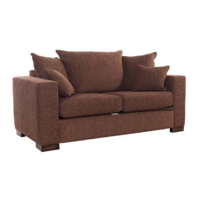 Icon Designs St Ives Madrid Scatter Back 2 Seater Sofa Bed in Chocolate