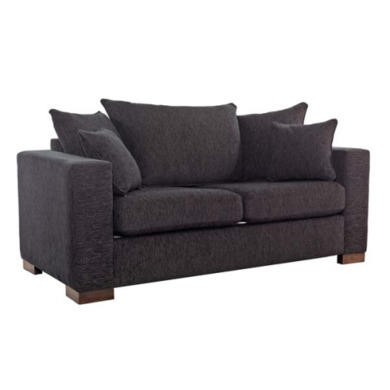 Icon Designs St Ives Madrid Scatter Back 2 Seater Sofa Bed in Black