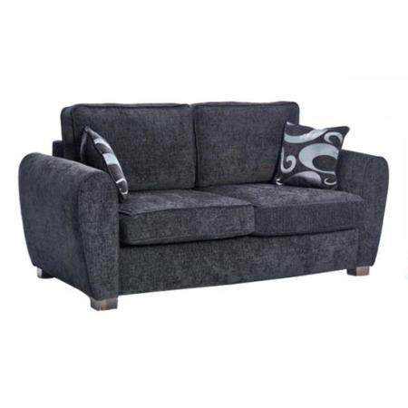 Icon designs st ives paris 2 seater sofa bed in black for Sofa bed paris