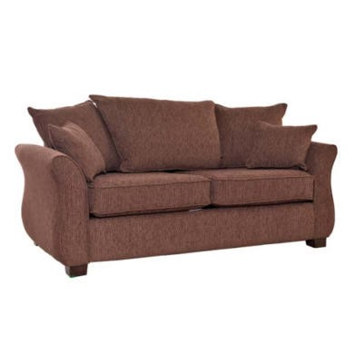 Icon Designs St Ives Vienna 2 Seater Scatter Back Sofa Bed in Mazurka Chocolate