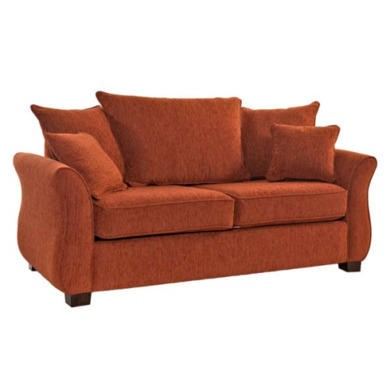 Icon Designs St Ives Vienna 2 Seater Scatter Back Sofa Bed in Mazurka Terracotta