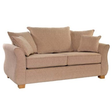 Icon Designs St Ives Vienna 2 Seater Scatter Back Sofa Bed in Mazurka Beige