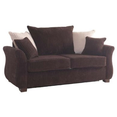 Icon Designs St Ives Vienna 2 Seater Scatter Back Sofa Bed in Conway Chocolate