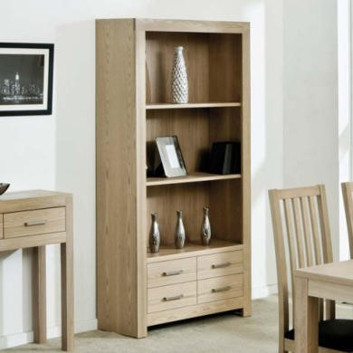 Zone Safara Solid Wood 4 Drawer 2 Shelf Bookcase