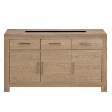Zone Safara Solid Wood 3 Door 3 Drawer Sideboard