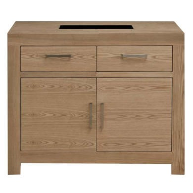 FOL071473 Zone Safara Solid Wood 2 Door 2 Drawer Sideboard