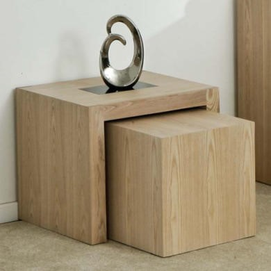 Zone Safara Solid Wood Nest of Tables
