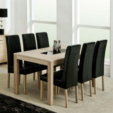Zone Safara Solid Wood Large Rectangular Dining Table