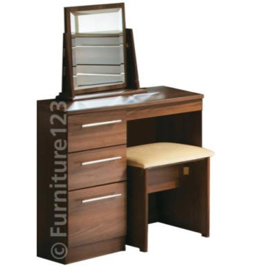 GRADE A2 - Welcome Furniture Loxley 3 Drawer Dressing Table in Walnut