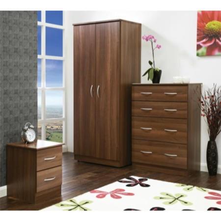 Excellent Welcome Furniture Stratford 3 Piece Bedroom Storage Set In Walnut Complete Home Design Collection Epsylindsey Bellcom