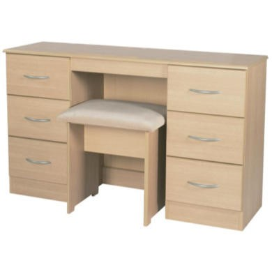 Welcome Furniture Stratford 6 Drawer Dressing Table in Light Oak