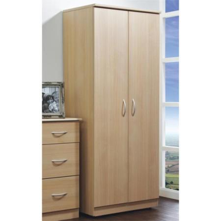 Welcome furniture stratford 2 door wardrobe in light oak for Furniture 123 wardrobes