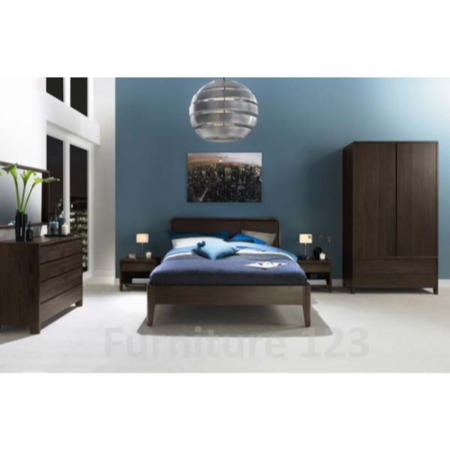 Bentley designs domino walnut 6 piece bedroom furniture for Bentley designs bedroom furniture