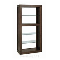 Bentley Designs Akita Walnut Open Glazed Display Cabinet